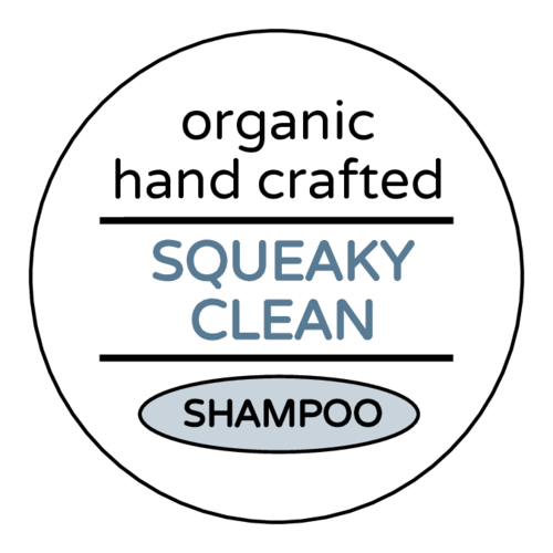"""Squeaky Clean"" Shampoo Bottle Label"