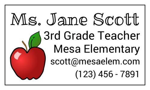 Teacher Contact Magnet