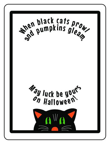 Halloween Black Cat Tag