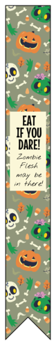 Halloween Test Tube Favor Label