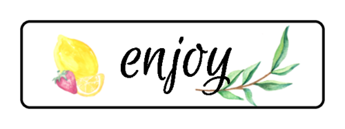 """Enjoy!"" Lemonade Stand Label"