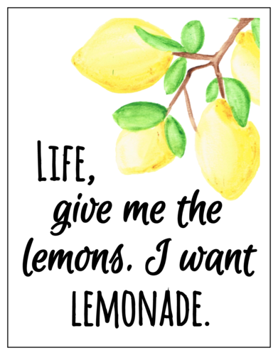 Ultimate Lemonade Stand Cardstock Postcards Printable