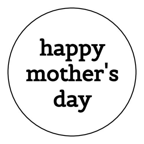 "Simple ""Happy Mother's Day"" Sticker"