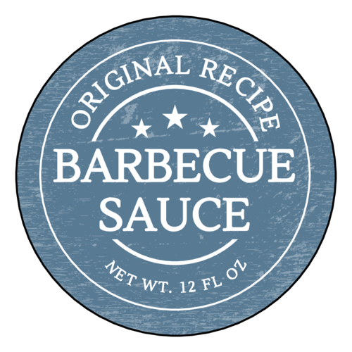 Weathered Barbecue Sauce Label