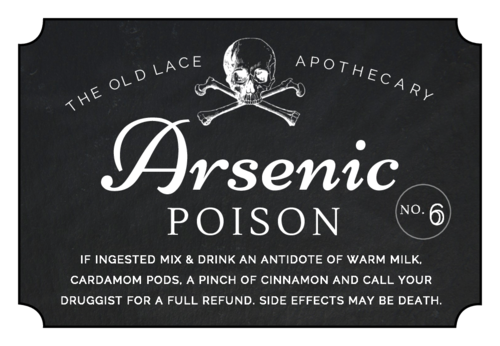 Arsenic Poison Decorative Halloween Apothecary Label