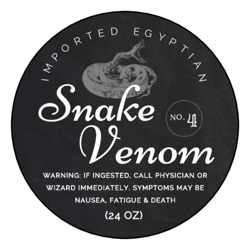 Snake Venom Decorative Halloween Apothecary Label