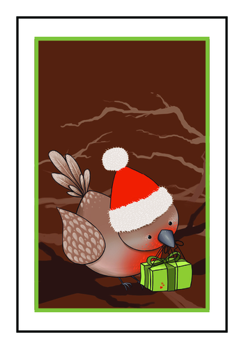 Holiday Bird Write-In Gift Tag