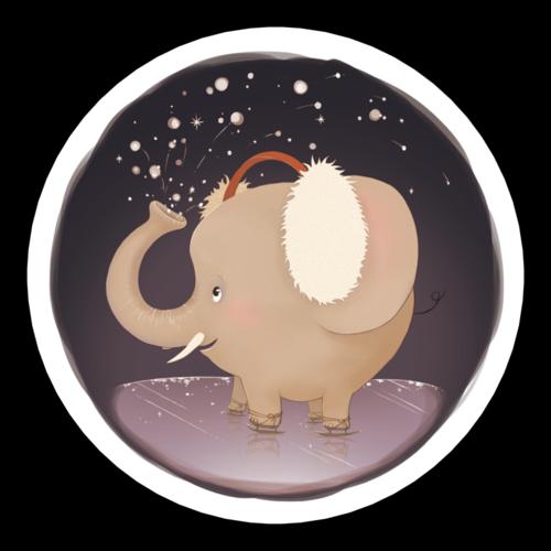 Holiday Elephant Gift Label