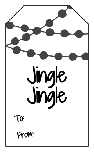 """Jingle Jingle"" Christmas Gift Tag"