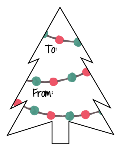Christmas Tree To & From Label