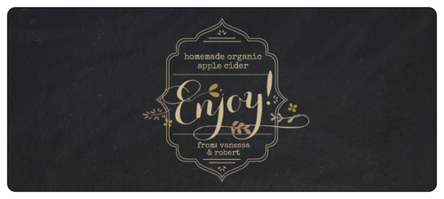 """Enjoy!"" Fall Food Gift Wrap-Around Label"