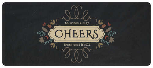 """Cheers!"" Fall Food Wrap-Around Gift Label"