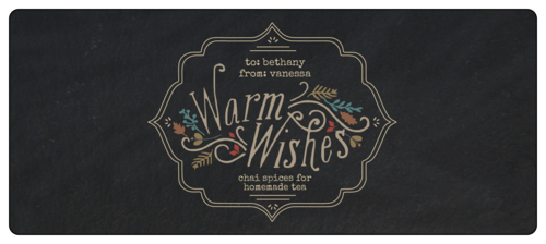 """Warm Wishes"" Fall Food Gift Wrap-Around Label"