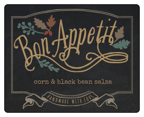 """Bon Appetit"" Fall Food Gift Label"