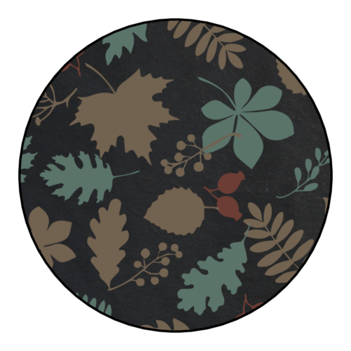 Decorative Fall Food Jar Lid Sticker