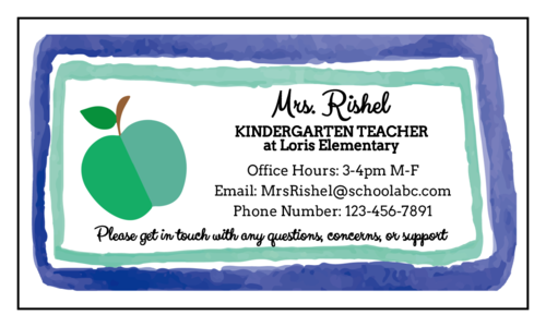 Apple Teacher Contact Magnet