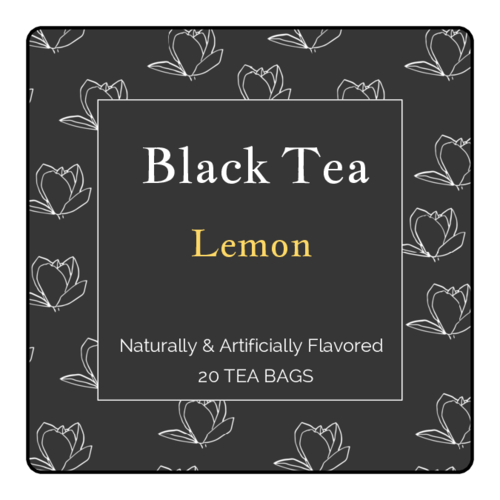 Floral Black Tea Label