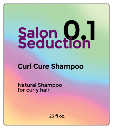 Holographic-Style Shampoo Bottle Label