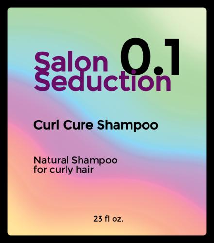 Holographic-Style Shampoo Bottle Label