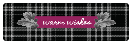 """Warm Wishes"" Plaid Fall Food Gift Label"