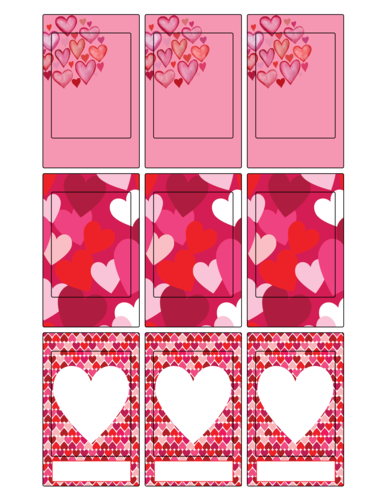Valentine's Day FujiFilm Instax Frame Labels Printable