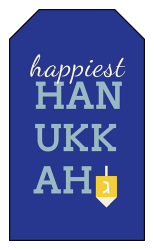 """Happiest Hanukkah"" Gift Tag"