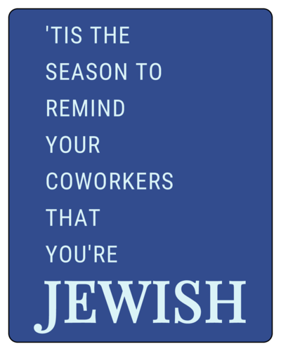 Funny Hanukkah Wine Bottle Label