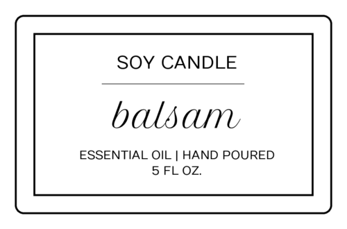 Modern Rectangle Candle Label