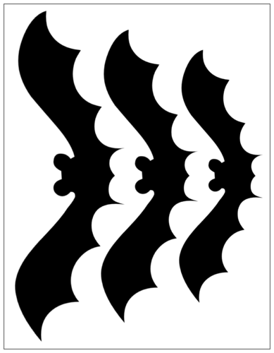 Halloween Bat Cut-Out Sticker