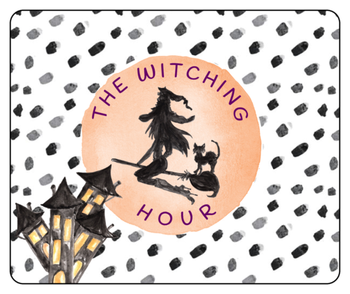 """The Witching Hour"" Halloween Wine Bottle Label"