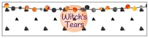 """Witch's Tears"" Halloween Water Bottle Label"