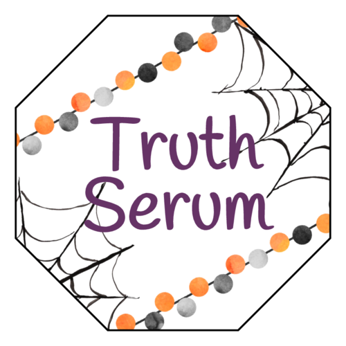 """Truth Serum"" Halloween Label"