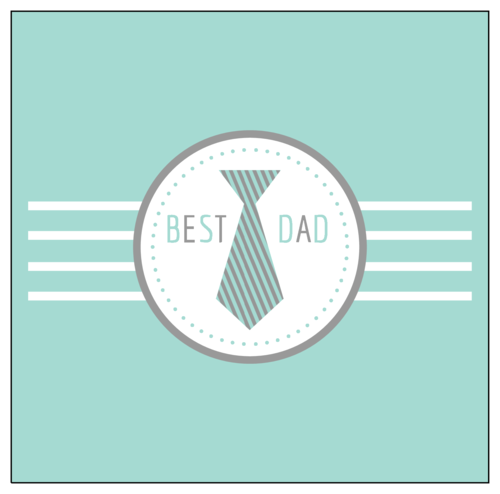 """""""Best Dad"""" Father's Day Candy Bar Label"""