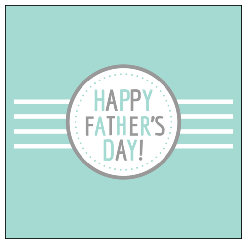 """Happy Father's Day!"" Candy Bar Label"