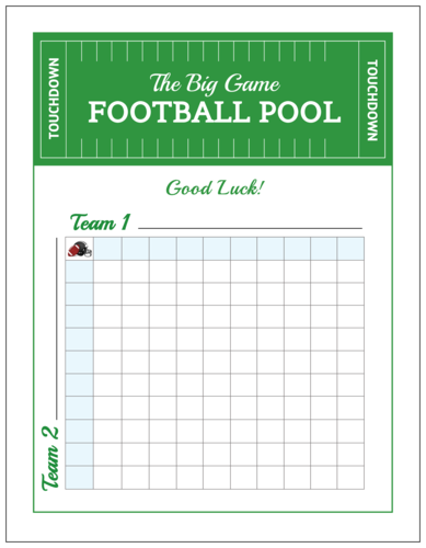 The Big Game Football Pool Party Game Poster