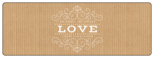 """Love"" Kraft-Style Champagne Bottle Label"