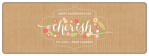 """Cherish"" Valentine's Day Champagne Bottle Label"
