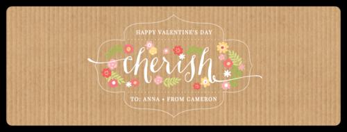 """Cherish"" Valentine's Day Champagne Bottle Label"