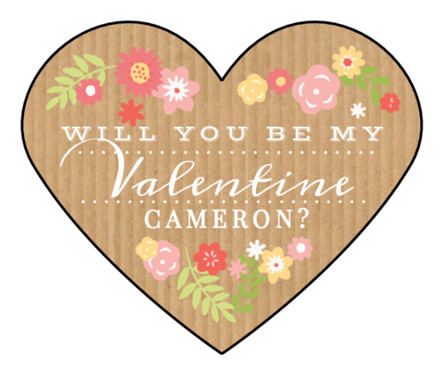 """Will You Be My Valentine"" Sticker"