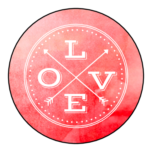 "Tribal ""Love"" Watercolor Sticker"