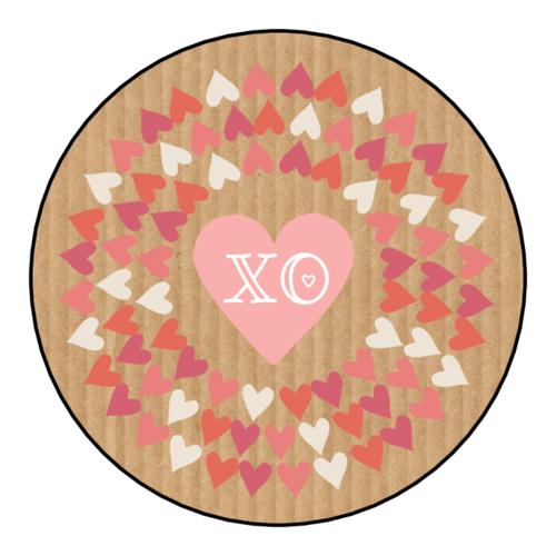 """XO"" Valentine's Day Heart Sticker"