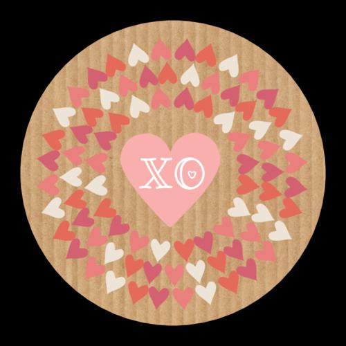 """""""XO"""" Valentine's Day Heart Sticker"""