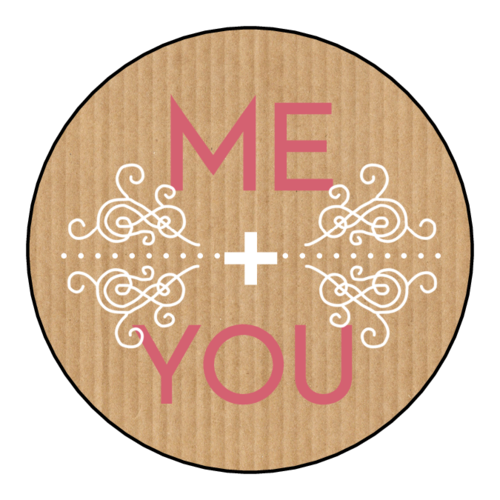 """Me + You"" Valentine's Day Sticker"