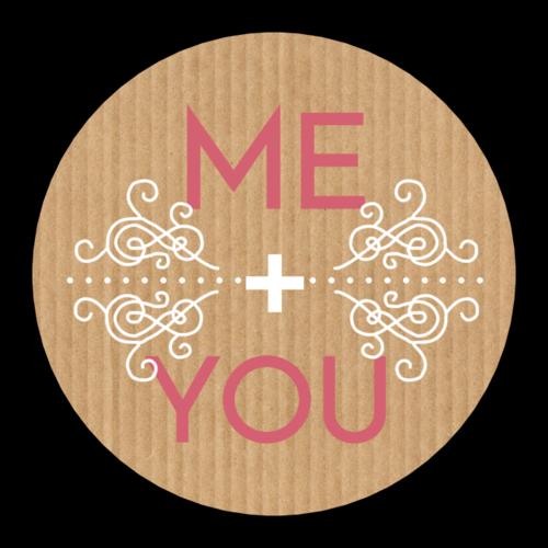 """Me + You"" Valentine's Day Sticker"