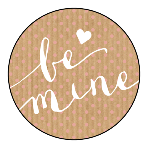 """Be Mine"" Valentine's Day Label"