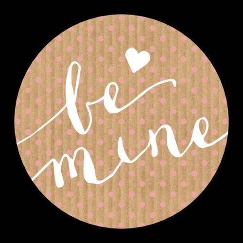 """Be Mine"" Valentine's Day Label"