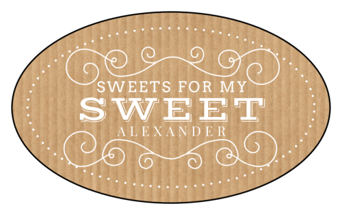 """Sweets for My Sweet"" Valentine's Day Label"