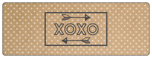 """XOXO"" Valentine's Day Wrap-Around Label"