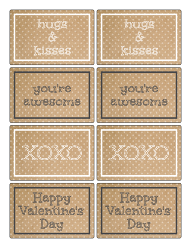 Kraft-Style Valentine's Day Label