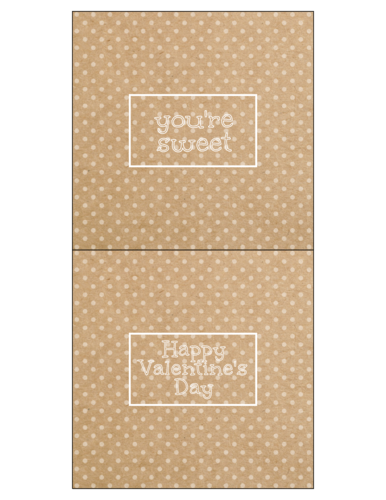 Kraft-Style Valentine's Candy Bar Wrapper Label